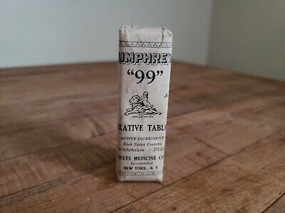 Antique Humphreys Homeopathic Medicine NOS #99 Laxative Tablets