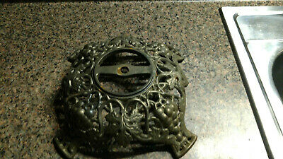 Antique Vintage Brass Plated Lamp Base Ornate Footed Part Piece Marked 344