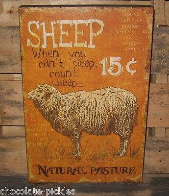 LAMB SHEEP Wood SIGN*Farm Animal Primitive/French Country/Urban Farmhouse Decor