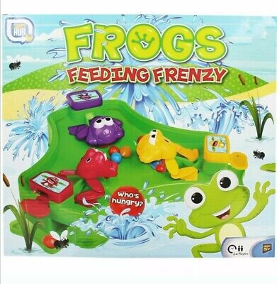 Frog Frenzy BOARD GAME CHILDREN KIDS TOY GAME GIFT CHRISTMAS Hungry Frogs Hippos