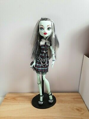 Large Monster High 17inch Doll Frankie Stein Excellent Condition With Stand