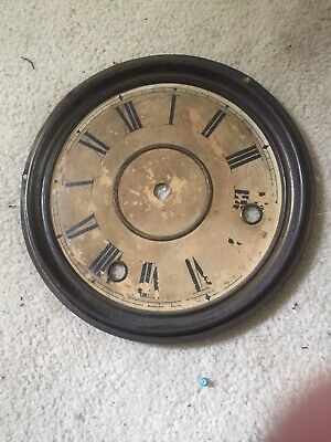 "Antique Gingerbread Clock Face 6.25"" Diameter For Parts"
