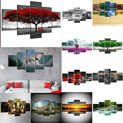5Panels Large Wall Print Picture Photo Canvas Art Oil Home Decor Unframed Modern