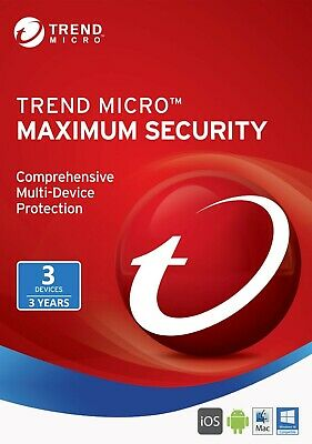 Trend Micro Maximum Security 2019 3 Devices/Users 3 Year