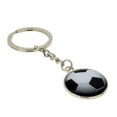 Football Design Silver KEYRING PLAYER CLUB SUPPORTER engravable Present GIFT BOX