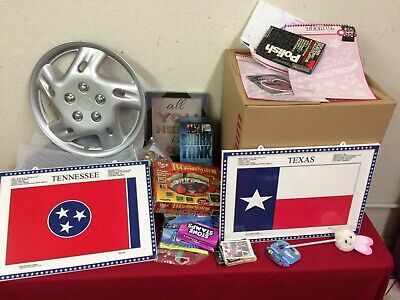 Huge Junk Drawer Lot of Collectibles, Toys, Wheel Covers, Misc Items #HJDTG1