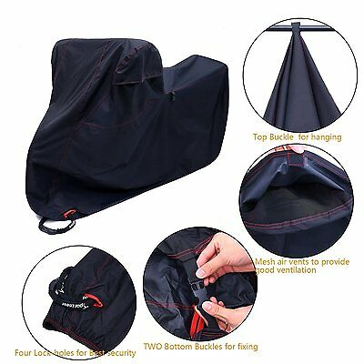 4 Lock-holes 300D Oxford Motorcycle Bike Cover Dust Cover For Yamaha Honda