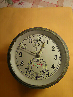Russian marine chronometer POLET # 334. For restoration or for spare parts.