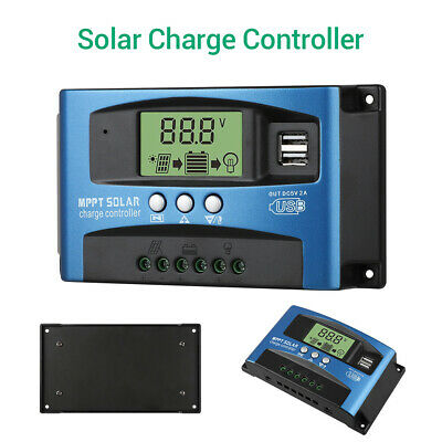 30-100A LCD Display MPPT Solar Controller 12V/24V High-power Auto Focus Tracking
