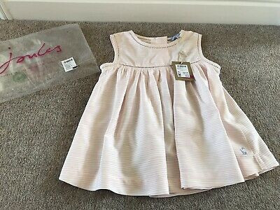 Joules Girls Trudie Pink Stripe Top, Blouse, Tunic, Age 6 - Brand New With Tag