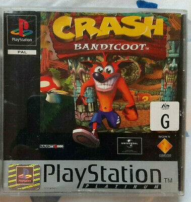 Crash Bandicoot Sony PS1 Replacement Front and Rear Covers - NO GAME