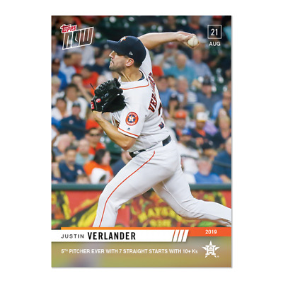 2019 Topps NOW Justin Verlander #727 ~ Houston Astros ~ Only 231 Printed!