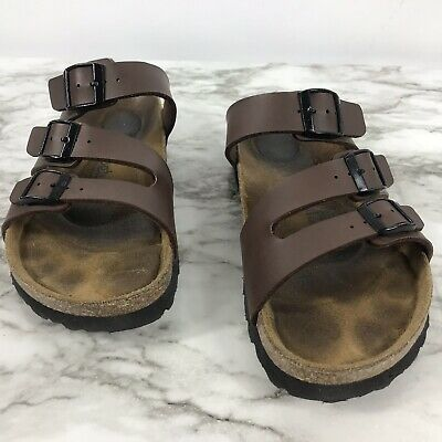 WOMEN'S BIRKENSTOCK BLACK Patent Leather Two Strap Sandals