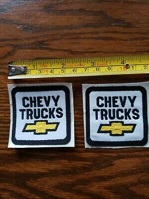 """2 NEW CHEVY TRUCKS EMBROIDERED PATCH ~2"""" x 2-""""  BOWTIE"""