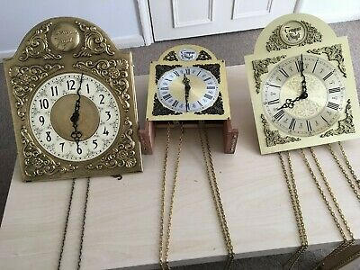 Vintage Movement With Dial and Pendulum For Restoration Spare Or repair