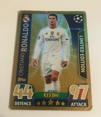 Cristiano Ronaldo Match Attax Champions League Card 2015/16 Gold Limited Edition