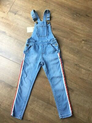 BNWT M&S Kids Blue Long Denim Dungarees - Age 5 - 6 Years - RRP £18