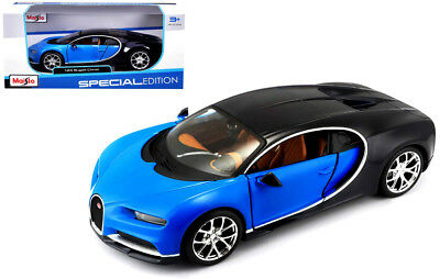Bugatti Chiron Blue /& White Exotics 1//24 Scale Diecast Car Model By Maisto 32509