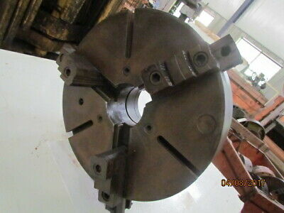 "18""  3 Jaw Chuck, L2 , 4-1/8"" hole thru, 2 piece jaws reversible"