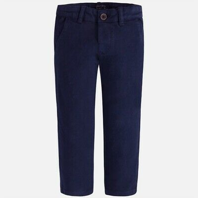 NWT Mayoral Boys Sizes 3-4-5-7-8 Navy Blue Chinos Trousers Pants