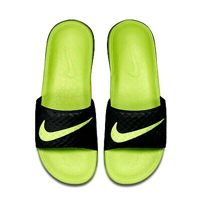 Nike Benassi Solarsoft Slides Sandals  705474-070 Mens Size 10 Black Volt