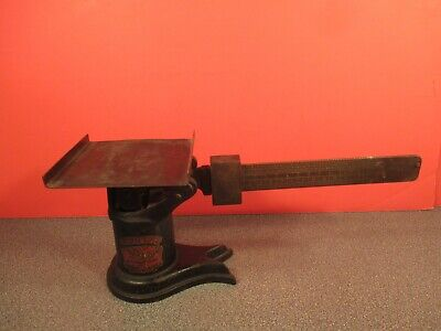 ANTIQUE,  VINTAGE, WEIS  POSTAL  SCALE  CAST  IRON  /  BRASS,  from  LATE 1800,s