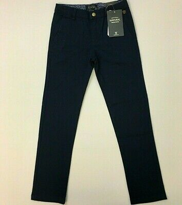 NWT Mayoral Boys Sizes 6 - 8 - 9 Navy Blue Chinos Trousers Pants