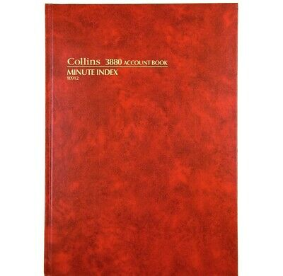 Collins 3880 Account Book A4 Minute Index 10912 Red