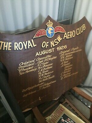 Aero Club Honours Board 1926