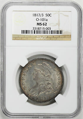 1817/3 Capped Bust 50C Ngc Ms 62
