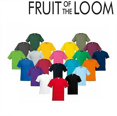 1&3 Pack Fruit Of The Loom T-shirt For Mens/Womens 100% Plain Cotton T-shirt Lot