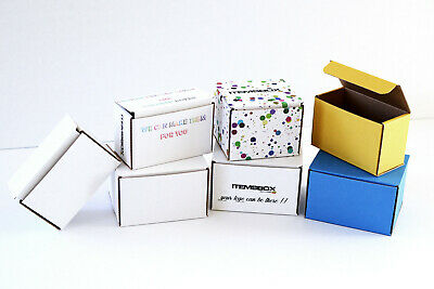 Pack Of 10 Plain / Custom Printed / Colored Cardboard Shipping Mailer Boxes