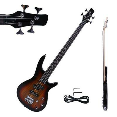 "New 34"" IB Basswood 24 Frets Electric Bass Guitar Sunset"