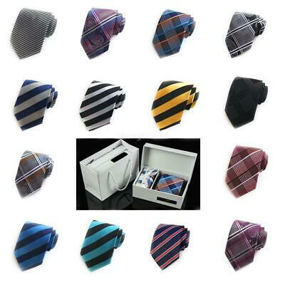 Tie Gift Box New Stripe Business Administration 6-piece Set Polyester Men's Tie