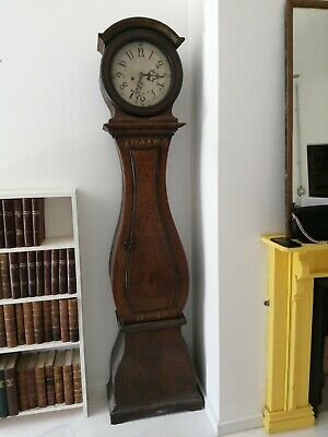 Antique Longcase Grandfather Swedish Mora Clock