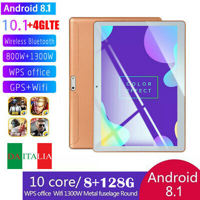 10.1'' Oro Tablet Android 8.1 Bluetooth PC 8+128G 2 SIM GPS Smartphone WIFI Pad
