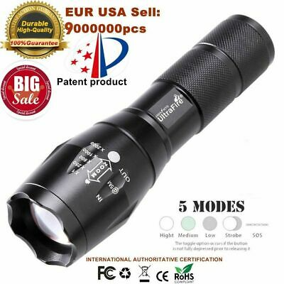 Promotion T6 LED Tactical  Flashlight Torch  Zoomable 50000lm 5 Modes  for 18650