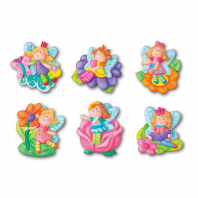 4M Mould and Paint Glitter Fairies - Create either fridge magnets or badges