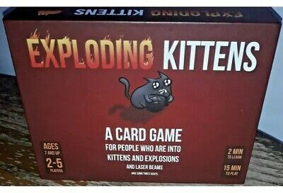Exploding Kittens Card Game Original Edition Family Fun Complete vgc