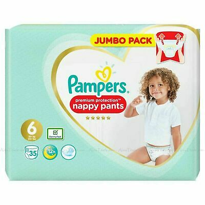 Pampers Premium Protection Baby Nappy Pants 15+kg Diaper Size 6 Jumbo Pack of 35