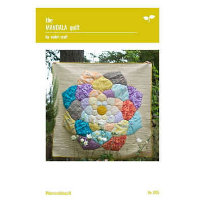 The Mandala Quilt Pattern By Violet Craft Quilting Sewing Craft DIY