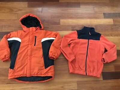 Boys 3 in 1 The Childrens Place Winter Jacket Coat  10-12 Orange