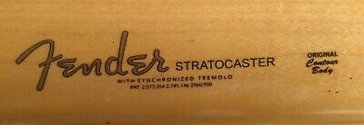 Fender Decal Waterslide Grey Stratocaster Restoration Headstock FREE SHIPPING