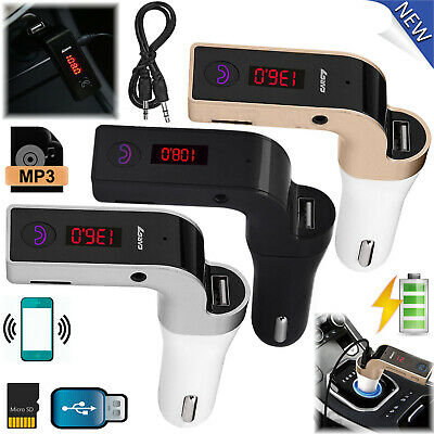 Bluetooth FM Transmitter USB Car Charger Wireless Radio Adapter MP3 TF Player RF