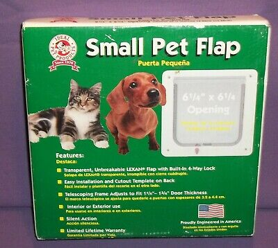 Ideal Small Cat Dog Pet Door 6 1/4 X 6 1/4 Flap Opening SPF NEW