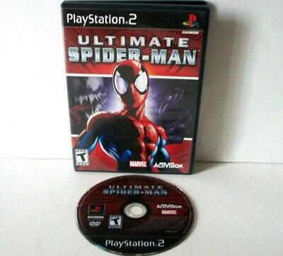 Ultimate Spider-Man (Sony PlayStation 2 PS2) Black Label Good Disc Spiderman