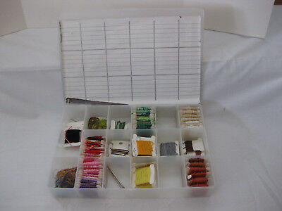 Floss Organizer from Darice DCB100 + 90 Bobbins Floss + extra bobbins, needles