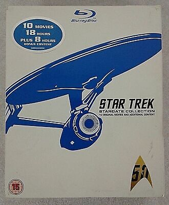 STAR TREK STARDATE Collection Remastered [Blu-ray Box Set]  Movies 1-10 Slipcase