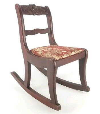 Swell Antique Tell City Mahogany Sewing Rocker Needlepoint Seat Gmtry Best Dining Table And Chair Ideas Images Gmtryco