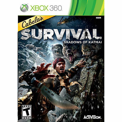 Cabela's Survival: Shadows of Katmai (Microsoft Xbox 360, 2011)  COMPLETE FAST